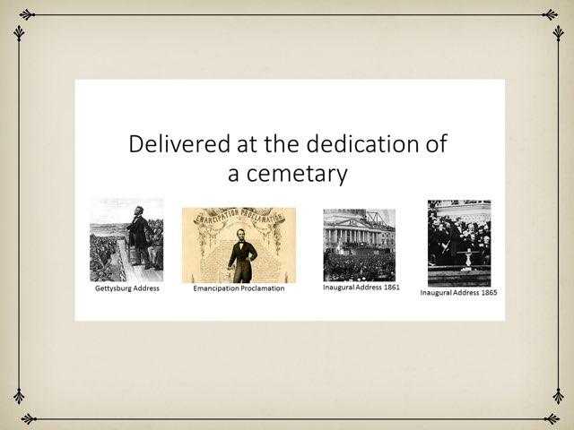 Lincoln Speeches DPISD by Leslie Kilbourn