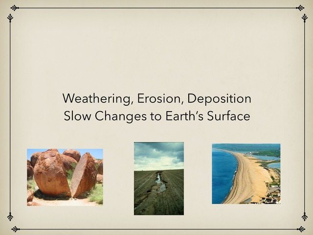 Weathering Erosion Deposition by Barry Smith