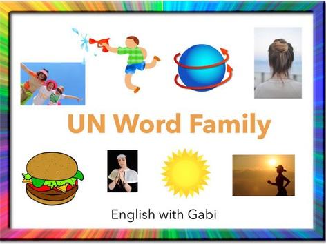 Lesson 19: UN Word Family- Phonics & Sight Words by English with Gabi אנגלית עם גבי