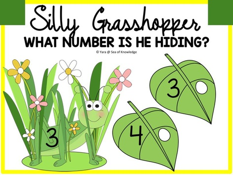 Silly Grasshopper Number Match Visual Discrimination  by Yara Habanbou