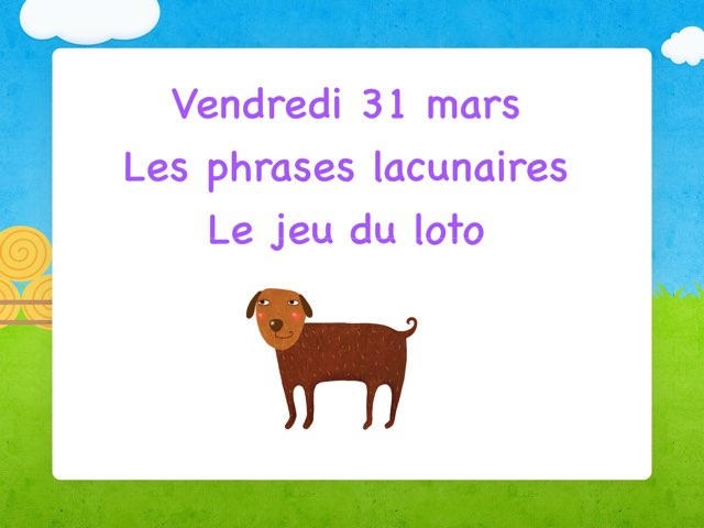 A - Ven31 - Phrases Et Jeu Loto  by Caroline Gozdek