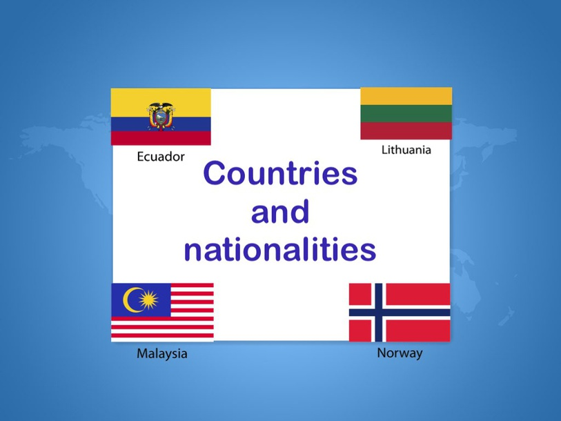 Countries-nationalities by Primaria Interattiva