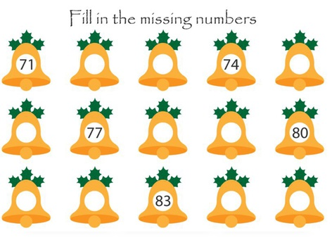 Jingle Bell Missing Numbers by Yam Goddard