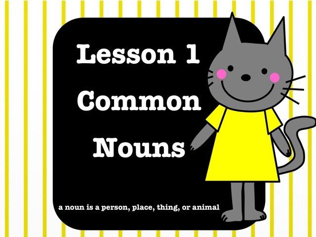 Language 1.1.b - Lesson 1 - Common Nouns by Jennifer