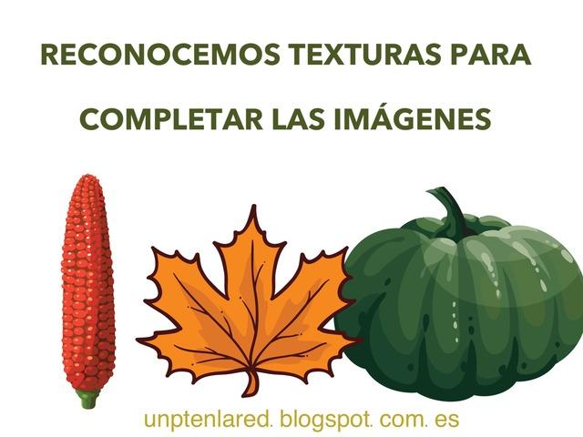 RECONOCEMOS TEXTURAS PARA COMPLETAR IMÁGENES. by Jose Sanchez Ureña