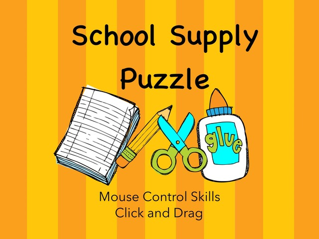 DPISD ELEM PWE School Supply Puzzle by Cynthia Ramirez