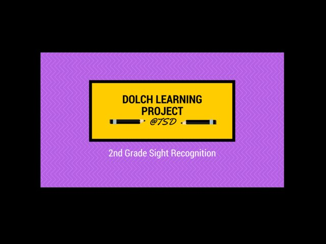 Sign ID 2: Dolch 2nd Grade by TSD Library
