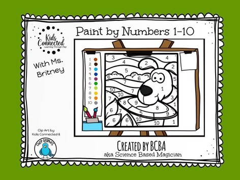 Paint By Number 1-10 Dog by Kids  Connected