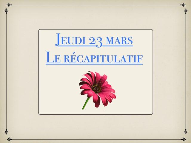 N - Jeu23 - Récapitulatif  by Caroline Gozdek