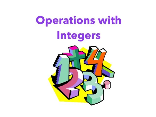 Operations With Integers by Kamisa Wagner
