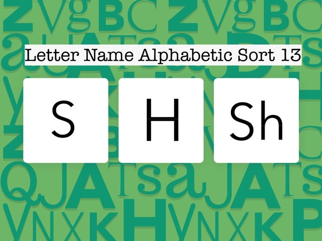 Letter Name Alphabetic Sort 13 by Erin Moody