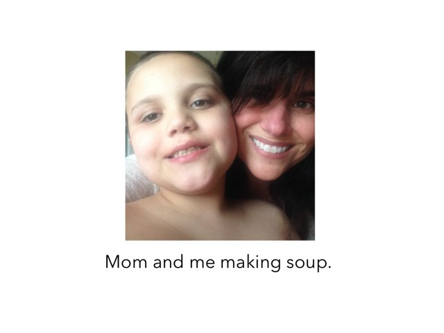 Making soup with Caleb  by Julie Mcneil