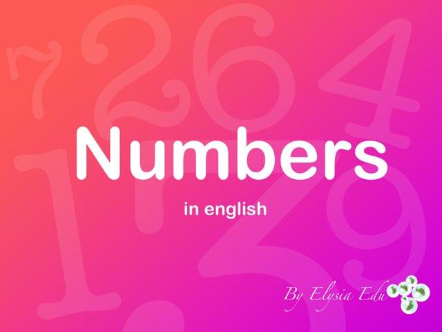 Numbers by Fran Sarrión