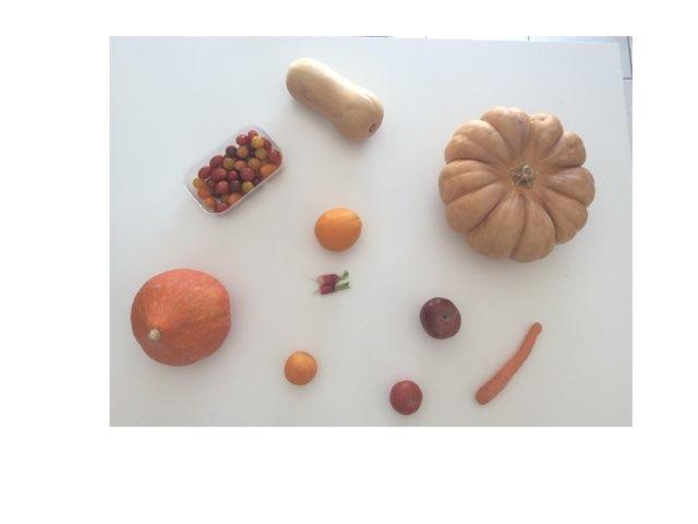 les fruits et légumes orange by Marion coutarel