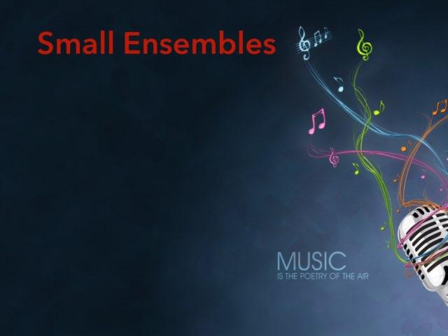 Small Ensembles by Drew Kunkel
