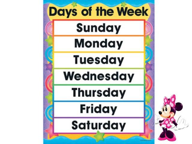 Days Of The Week by Mariam Abu Kamar