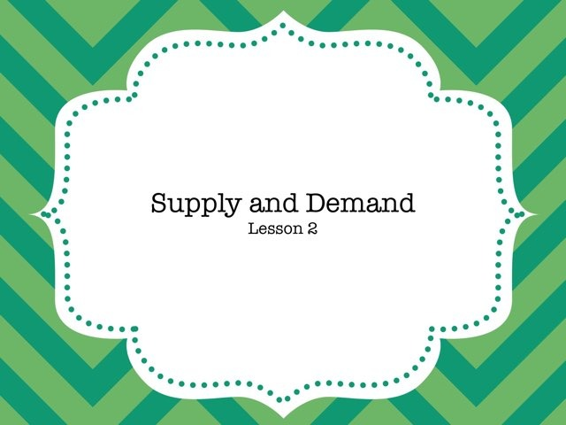 Supply And Demand by Jamie Moore