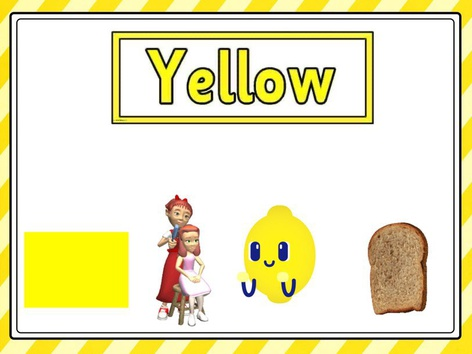 Word Yellow And Letter Y by Haifa Awwad