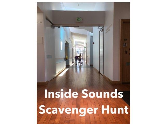Inside Sounds Scavenger Hunt  by Vision Teacher