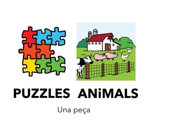Animals 5 _Puzzles 1 peça_so by Escola Joan23