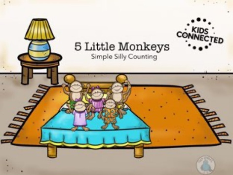 Simple Silly Counting: 5 Monkeys Jumping On The Bed by Kids  Connected