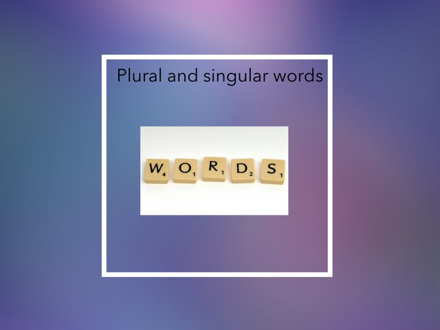 Singular And Plural Verbs By Ava Horan by Year Four