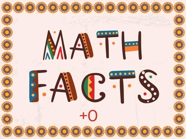 Math Facts +0 (to 10) by Jennifer