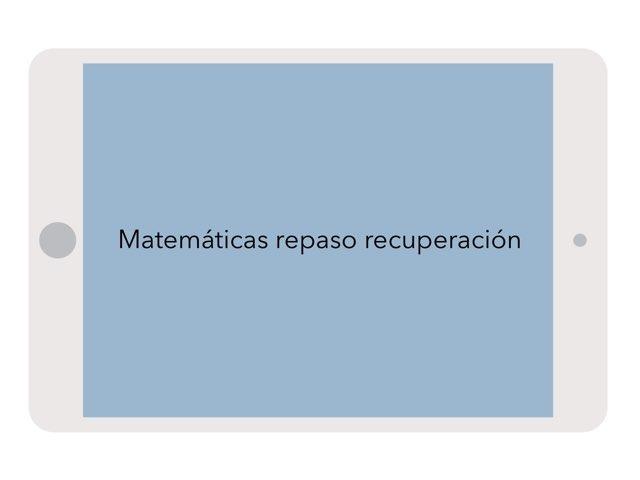 Repaso by Lucia Salvador