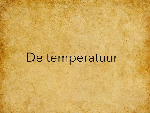De Temperatuur 2 by Jora Kesteloot