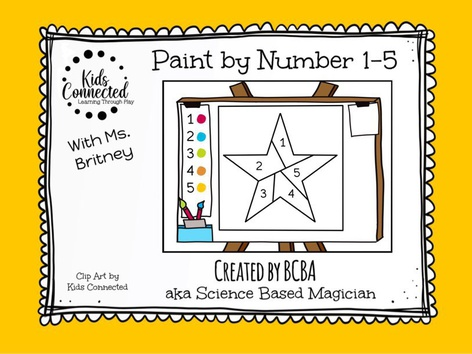 Paint By Number 1-5 Star by Kids  Connected
