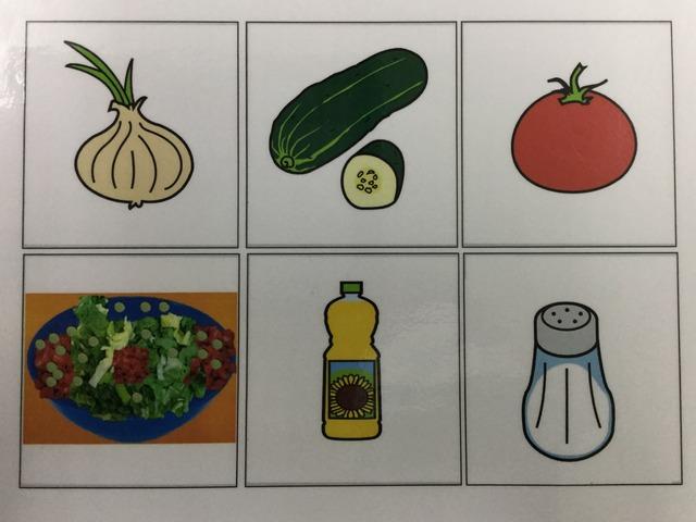 לוח תקשורת סלט ירקות בסמלים by רחל דביר