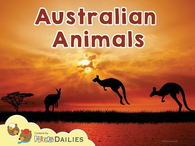 Animals in Australia by Kids Dailies