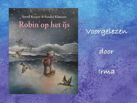 Robin op het ijs by Nelleke Lürsen