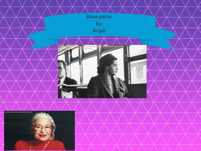 Rosa Parks By Anjali by Christine Snow