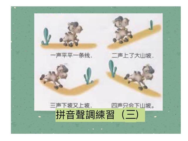 拼音聲調練習(三) by Primary Year 2 Admin