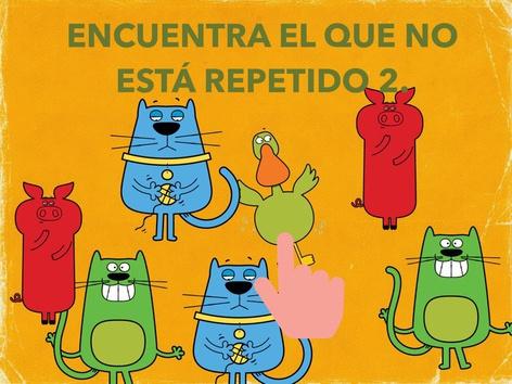 Encuentra El Que No Está Repetido 2. by Jose Sanchez Ureña