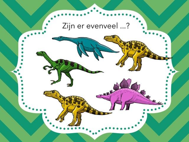 Evenveel dino's? by Griet Witvrouwen
