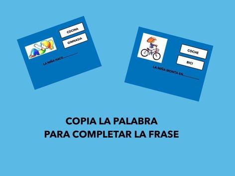 LECTURA DE PALABRAS.COPIA by Francisca Sánchez Martínez