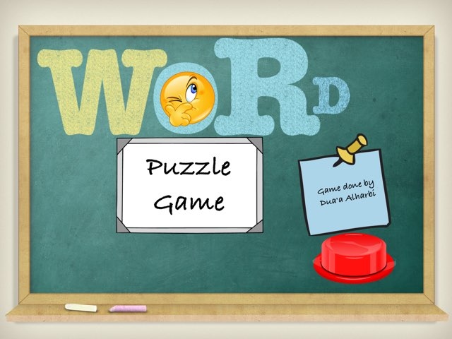 Word Puzzle Game Created By Dua'a alharbi by Dodi alharbi