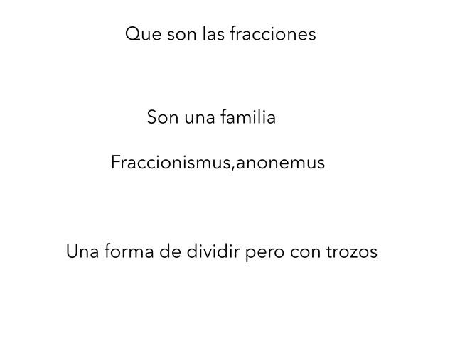 Fracciones  by Xavi Arlandis