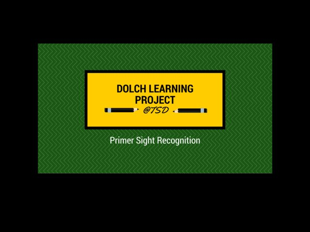 Sign ID 1: Dolch Primer by TSD Library