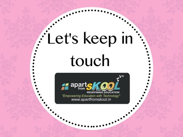 Let's Keep In Touch  by TinyTap creator