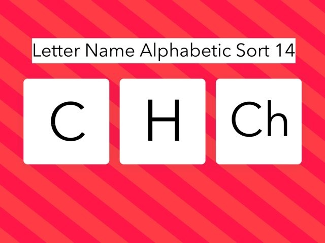Letter Name Alphabetic Sort 14 by Erin Moody