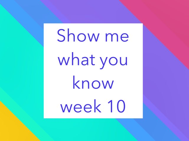 Show Me What You Know Game 10 by Michelle Knight