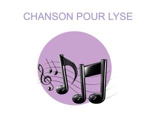 CHANSON POUR LYSE by Valerie Escalpade