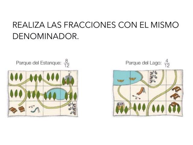 COMPARA FRACCIONES CON EL MISMO DENOMINADOR by Emma Falcó