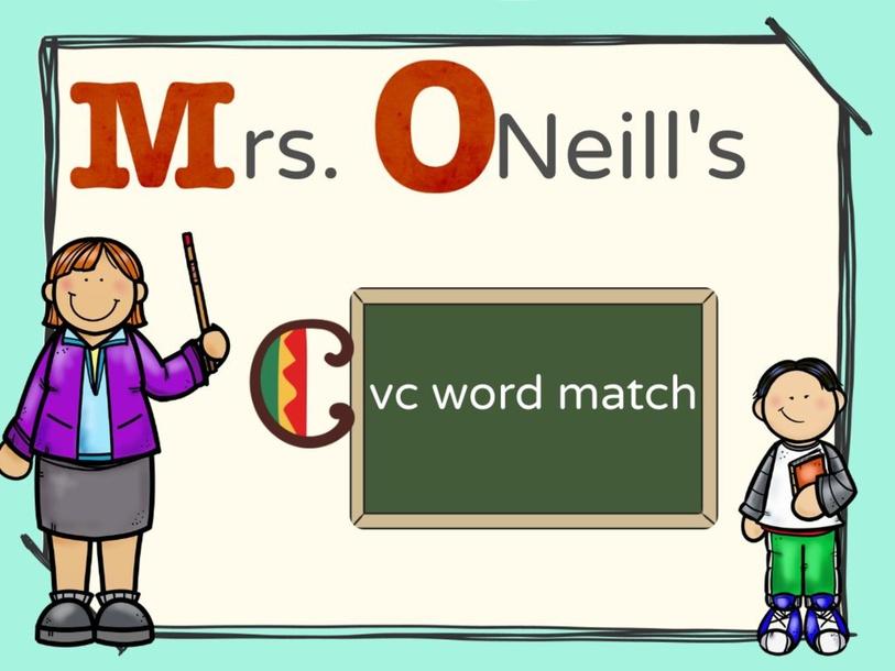 CVC Word Match by Cassie O'Neill