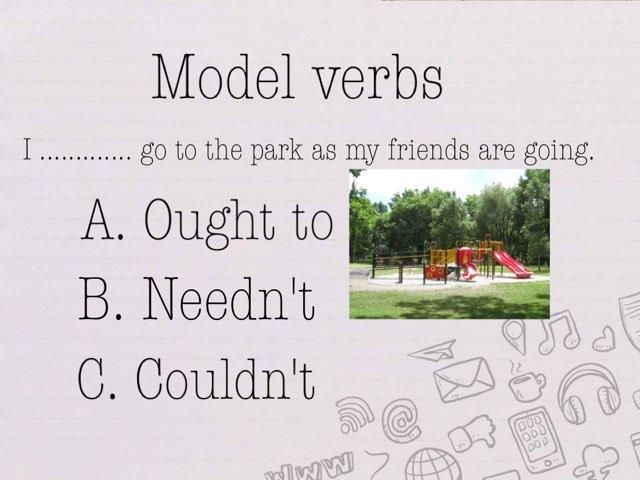 Cadences Model Verbs Game by Y6F Y6F
