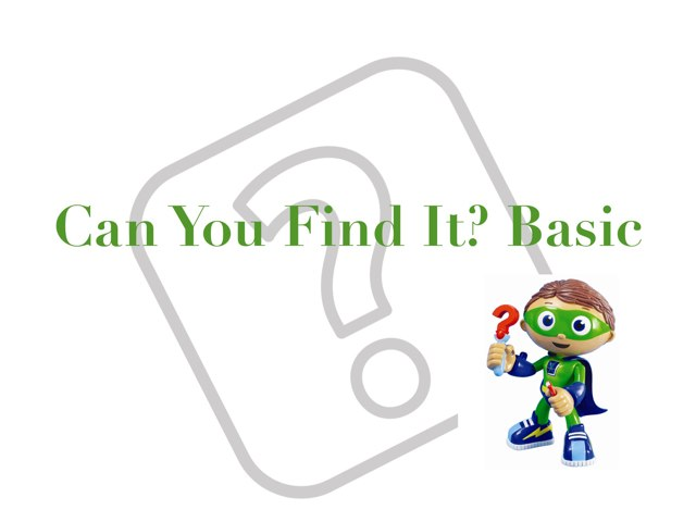 Can You Find It?  Basic by Kristin Meadows