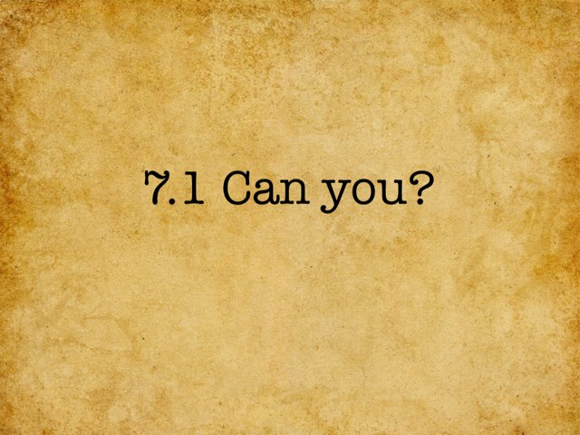 Can You? by Angeline Peck